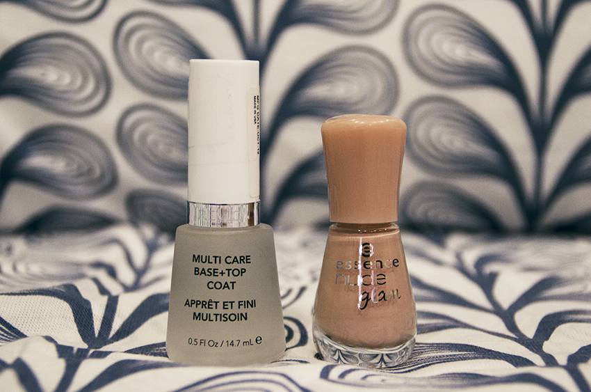 Essence nude glam and Revlon base + top coat